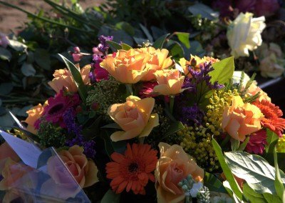 Bloemen ten afscheid